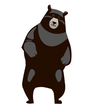 Schwarz grauer Tanzbär