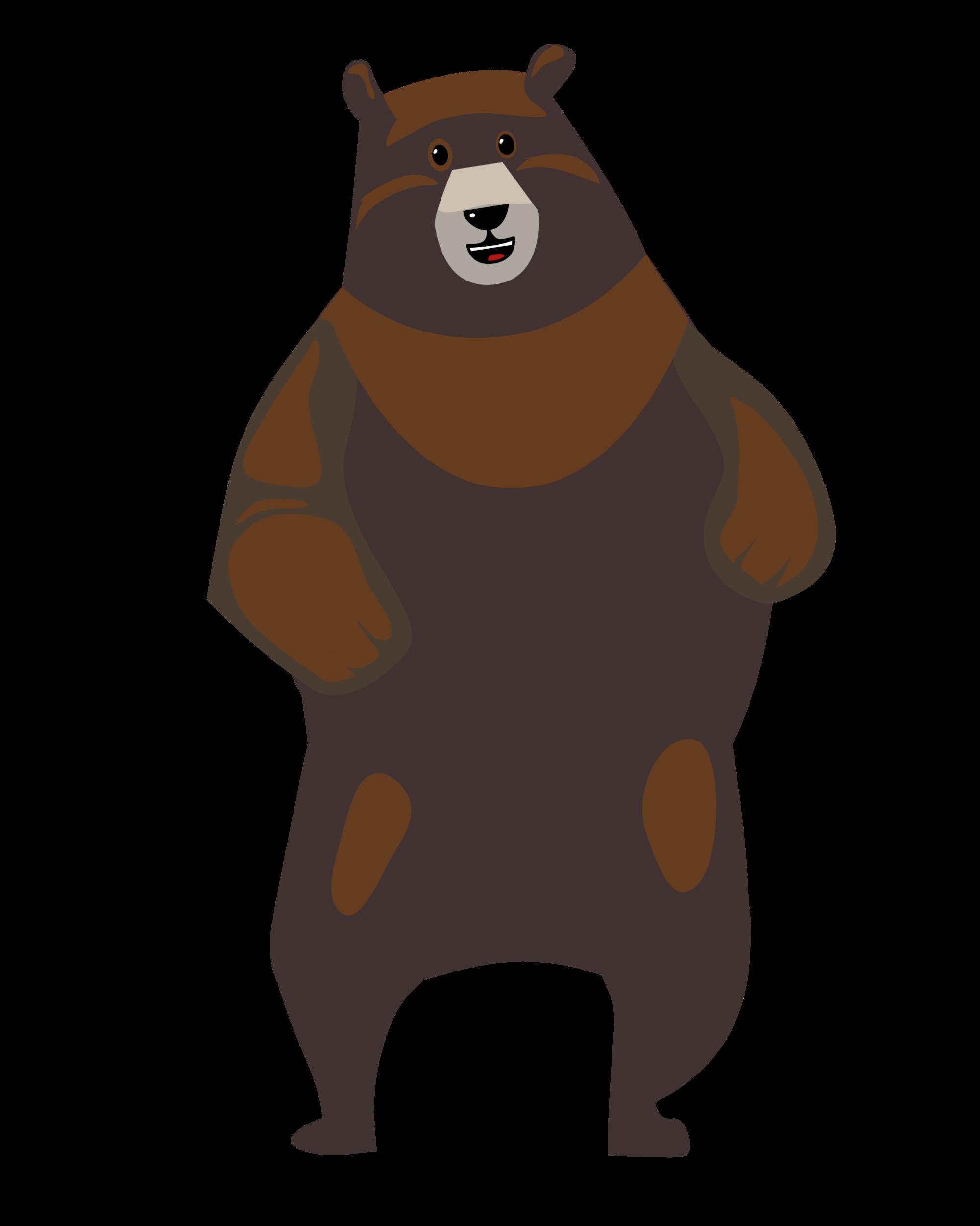 Braun grauer Tanzbär