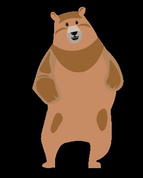 Hellbrauner Tanzbär