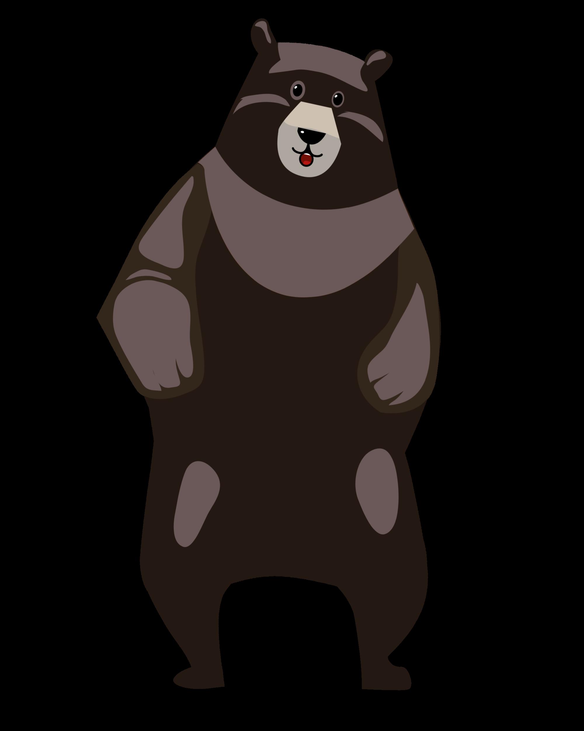 Dunkelbrauner Bär Tanzbär