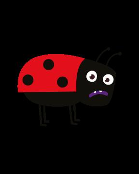 Marienkäfer - Rot und schwarze Flecken illustriert