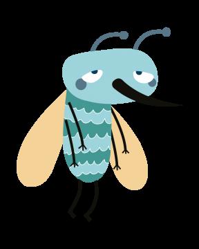 Trauriger Käfer in hellblau türkis gelb schwarz